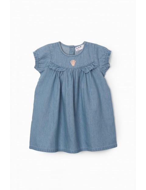 Sukienka niemowlęca - niebieska