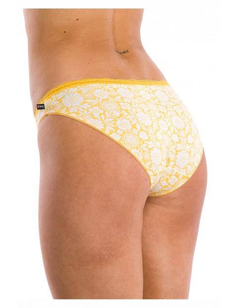 Kolorowe majtki damskie wykończone koronką 2 pack