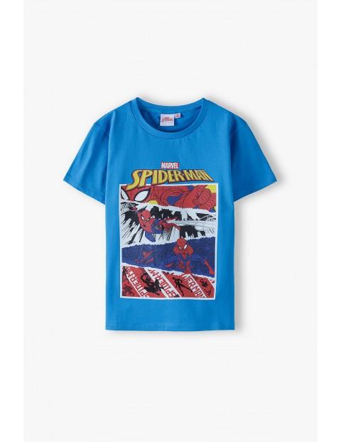 T-shirt chłopięcy Spider-Man niebieski