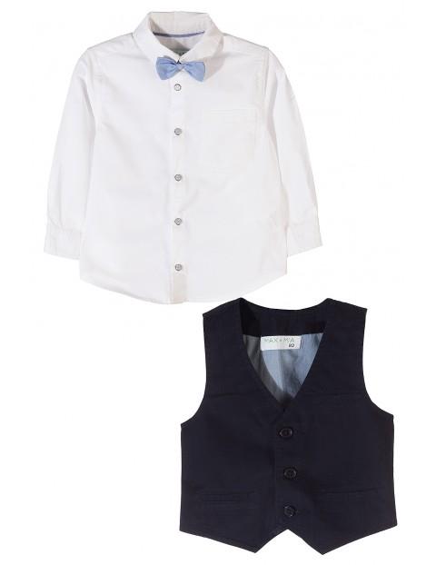 Komplet  koszula+kamizelka+mucha 1P3501