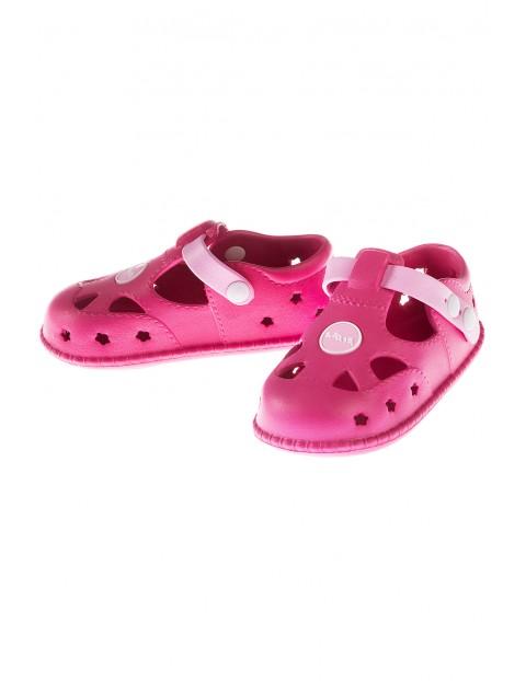 Sandały dziewczęce-różowe