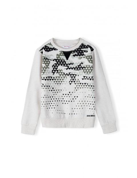 Bluza dresowa chłopięca z elementem moro