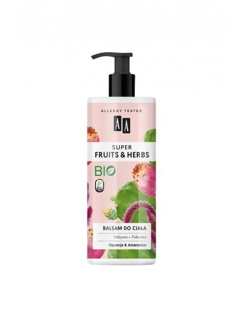 AA Super Fruits&Herbs balsam do ciała opuncja&amarantus 500 ml