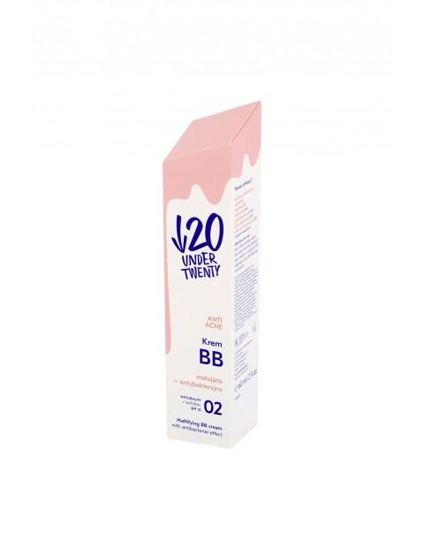 Under Twenty Anti Acne Krem BB matująco-antybakteryjny 02 naturalny 60 ml