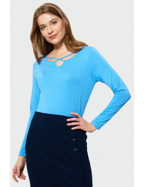 Bluzka z długim rękawem - niebieska