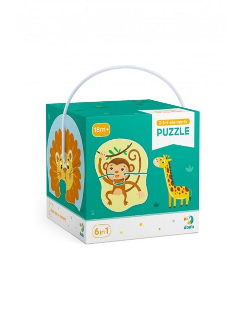 Puzzle 2-3-4 Elementy Zwierzęta 18msc+