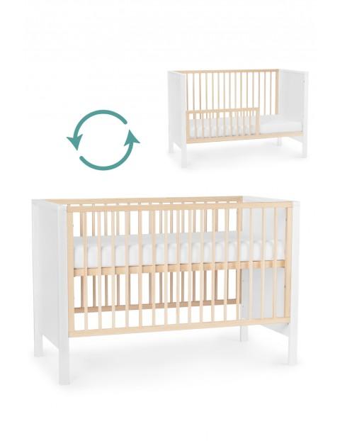 Łóżeczko drewniane MIA - białe