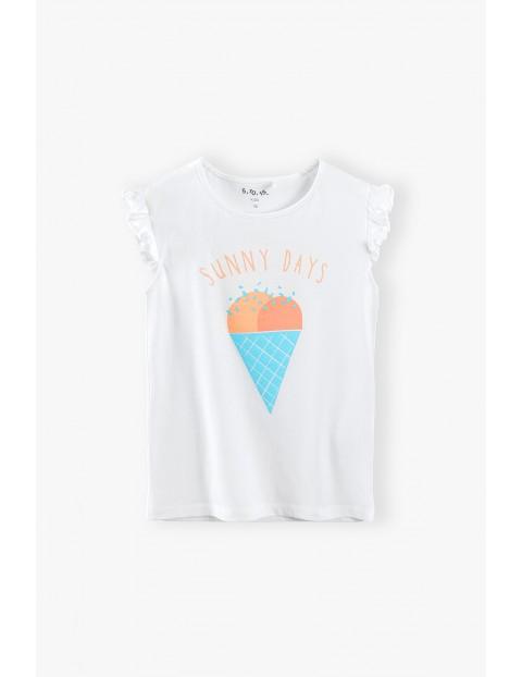 Bluzka dziewczęca z napisem Sunny Days - biała