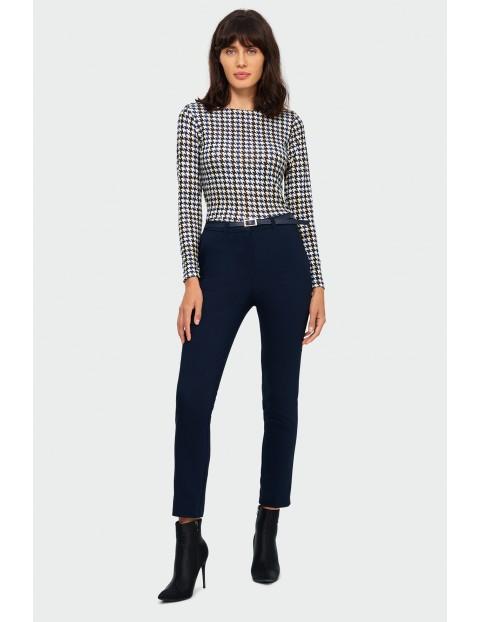 Spodnie damskie cygaretki - czarne