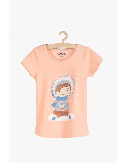T-shirt dziewczecy z eskimosem