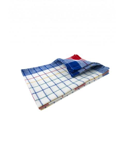 Bawełniane ręczniki kuchenne w kratę 45 x 65cm - 3 pak