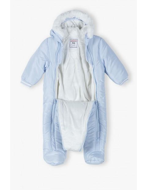 Kombinezon dla niemowlaka- niebieski