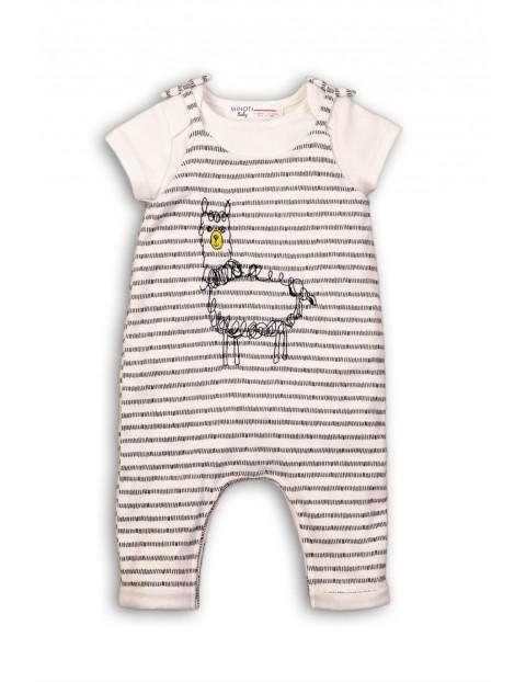 Komplet niemowlęcy body + spodnie z Lamą