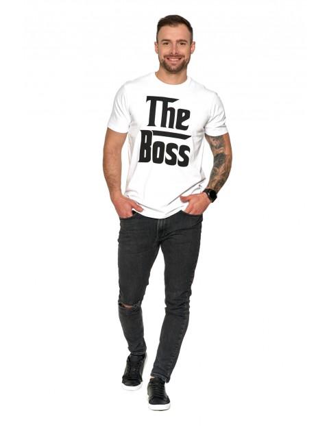 Koszulka męska z nadrukiem - The boss