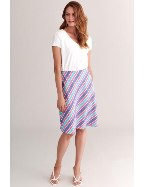 Kolorowa spódnica damska w paski