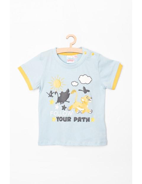 T-shirt niemowlęcy Król Lew- niebieski