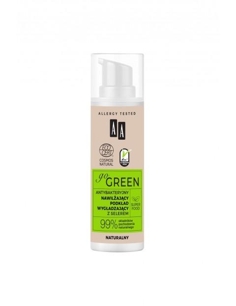 AA Go Green antybakteryjny nawilżający podkład wygładzający z selerem naturalny NATURAL 30 ml