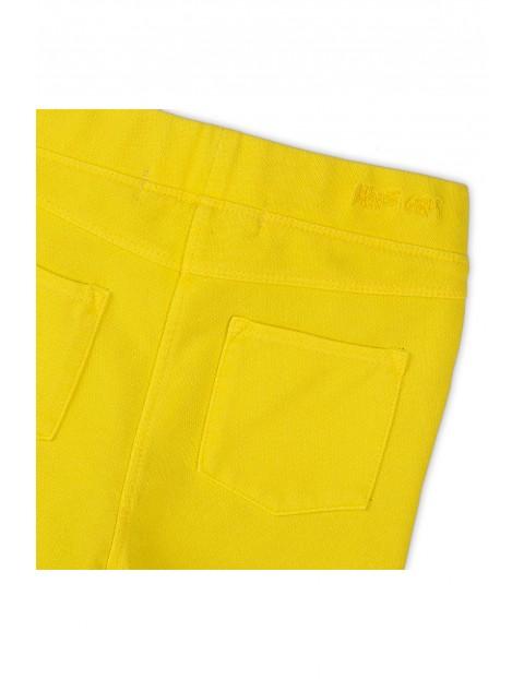 Jegginsy dziewczęce w kolorze żółtym