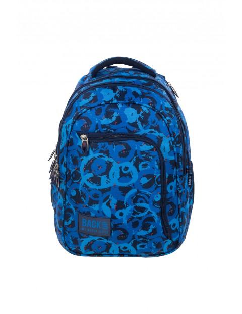 Plecak szkolny Back UP  dla chłopaka - granatowy ze słuchawkami