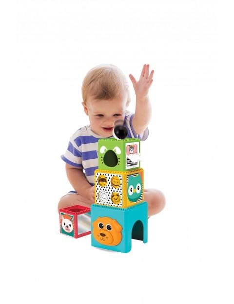 Zabawka- wesołe klocki piramidka B-kids wiek 9msc+