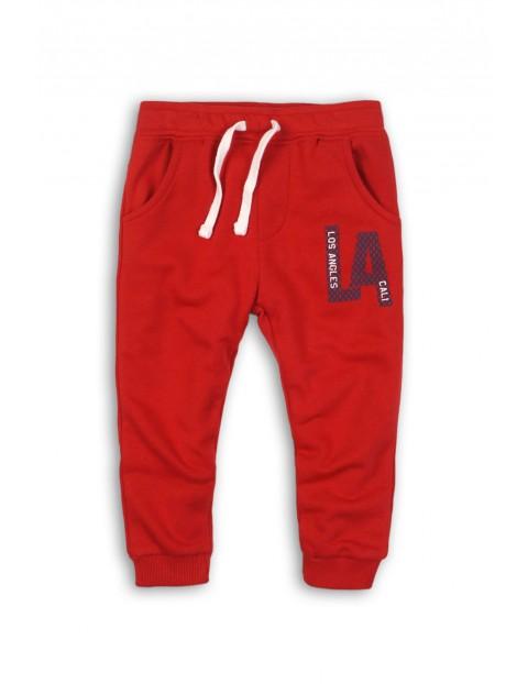 Spodnie dresowe niemowlęce- czerwone