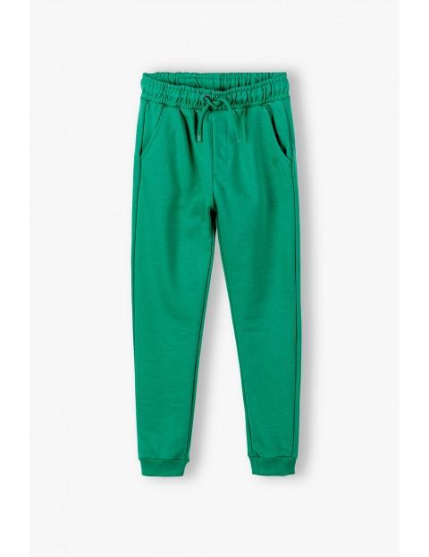 Spodnie dresowe chłopięce zielone