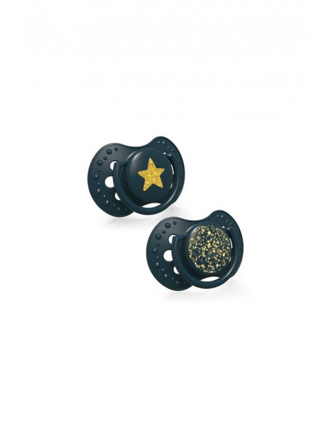 LOVI Smoczek silikonowy dynamiczny Stardust 3-6m 2 szt