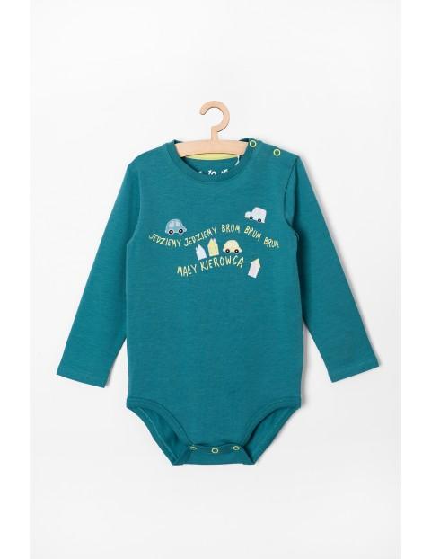 Body niemowlęce w samochodziki - zielone