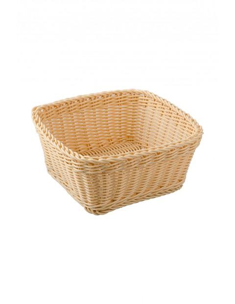 Koszyk Lotus kremowy ratanowe kwadratowy 19,5x19,5x8,5 cm
