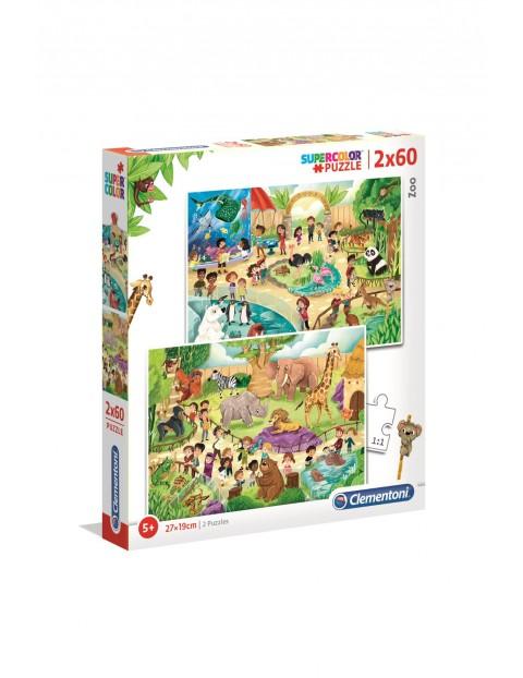 Puzzle Zoo - 2x60 elementów wiek 5+