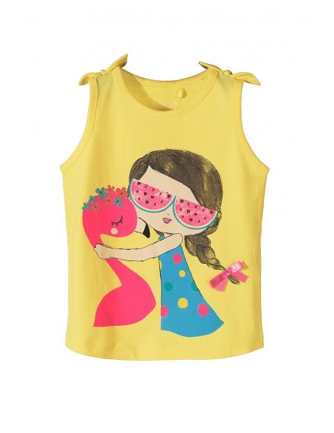 Koszulka dziewczęca na lato z kolorowymi nadrukami