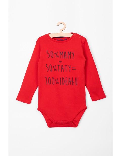 Body niemowlęce czerwone 50%mamy + 50%taty = 100% ideału