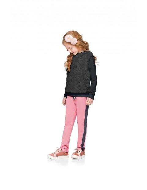 Komplet dziewczęcy bluza i spodnie z lampasem