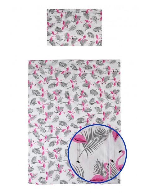 Pościel z bawełny 135x100cm Flamingi