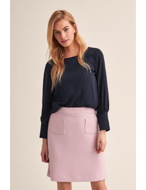 Różowa mini spódniczka z kieszeniami
