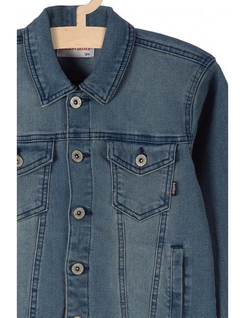 Kurtka jeansowa chłopięca niebieska