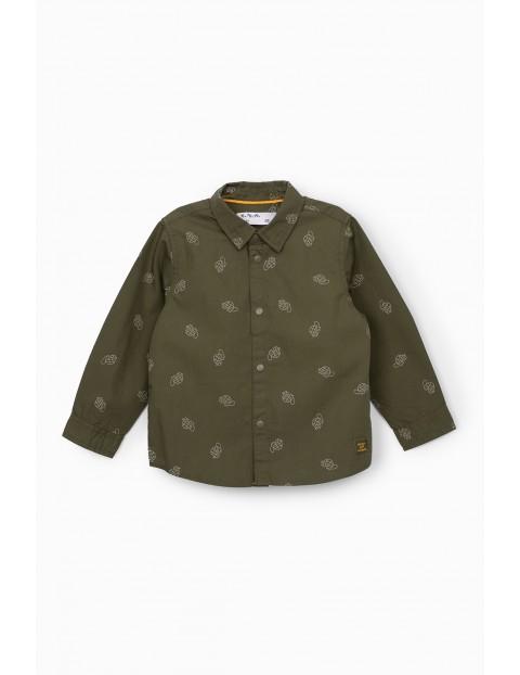 Zielona koszula niemowlęca z kołnierzykiem- żołwiki