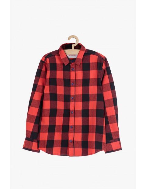 Koszula bawełniana w kratę- czerwona