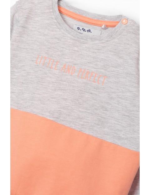 Bluza dresowa dziewczęca z napisem Little and Perfect