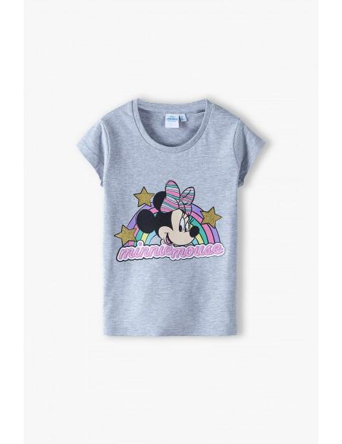 T-shirt dziewczęcy Myszka Minnie- szary