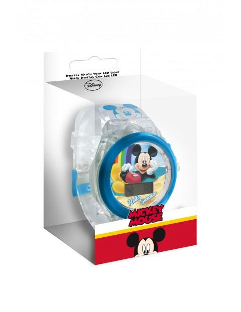 Zegarek cyfrowy dziecięcy  z podświetleniem LED - Myszka Miki
