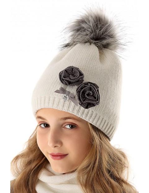 Czapka zimowa dla dziewczynki 4X35AO