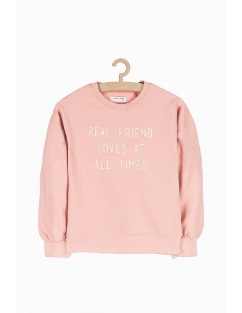 Różowa bluza dresowa dla dziewczynki