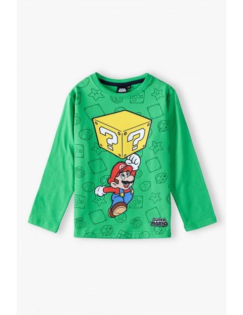 Bluzka bawełniana chłopięca Super Mario