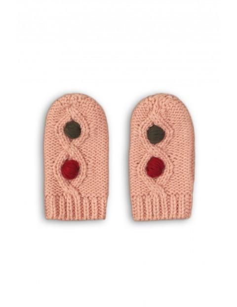 Rękawiczki dziewczęce różowe
