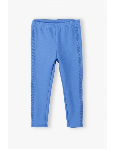 Niebieskie legginsy dziewczęce ocieplane