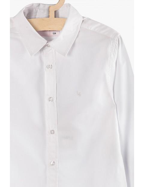 Klasyczna koszula chłopięca z długim rękawem- biała