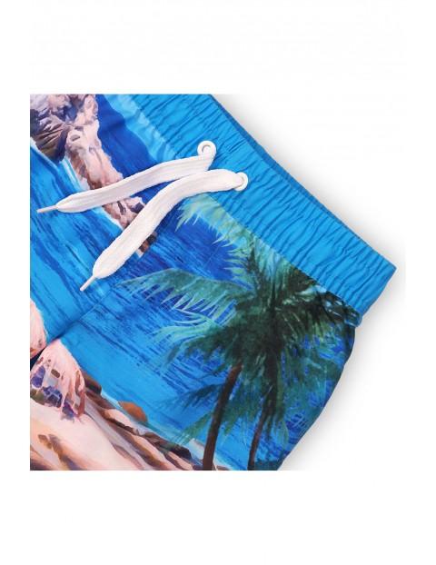 Kąpielówki z nadrukiem plaży rozm 92/98