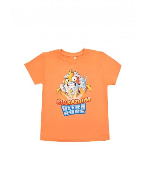 Bawełniany t-shirt chłopięcy Super Zings - pomarańczowy