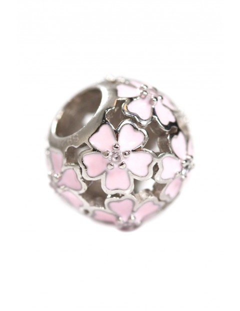 Beads Pink Flower - zawieszka różowy kwiat